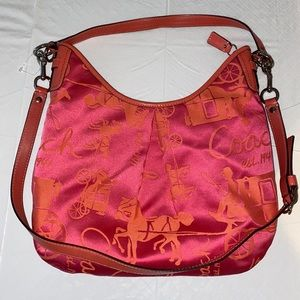 Coach Sateen Hobo Bag - Horse and Carriage